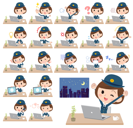 politievrouw vector set