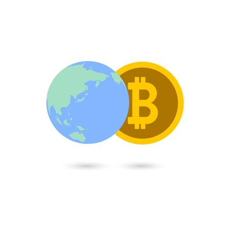 Bitcoin image illustration_Worldwide common