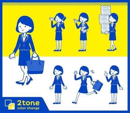 2tone type suit business women_set 2