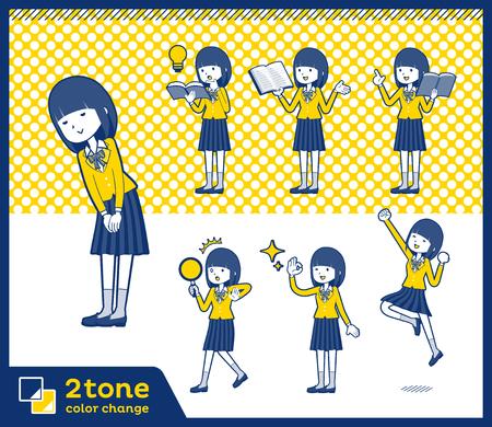 School girl blazer in two tone design.