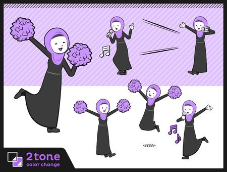 2tone type Arab women_set 07 Illustration