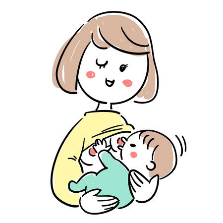 赤ちゃんと育児母乳良好な状態
