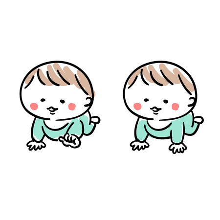 Baby crawling on their own Illustration