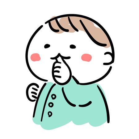 Baby  finger sucking Illustration