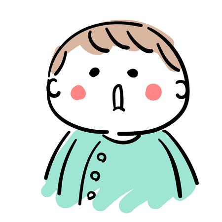 赤ちゃんの口を開く  イラスト・ベクター素材