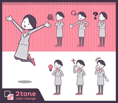 2tone type Cabin attendant women_set 01