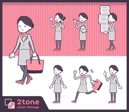 2tone type Cabin attendant women_set 02