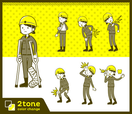 2tone type helmet construction worker woman_set 08