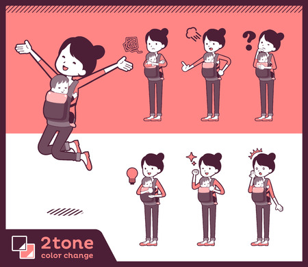 2tone type Mother and baby_set 01.