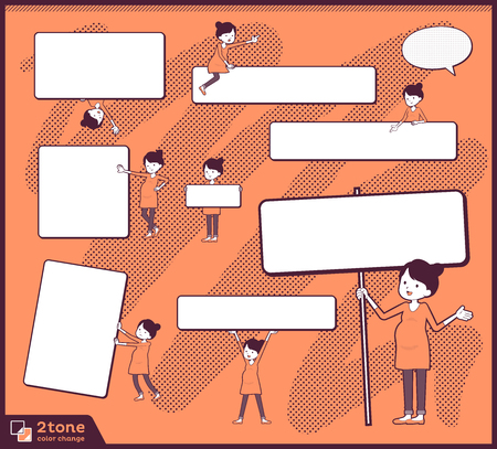 2tone type Pregnant women illustration. Standard-Bild - 96354567