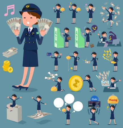 Flat type police Women_2. Stock Illustratie
