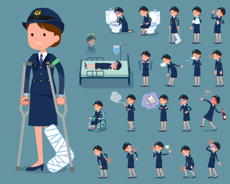 Flat type police Women_sickness. Stockfoto - 96085216