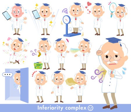 Research Doctor old men Vector illustration. Illustration