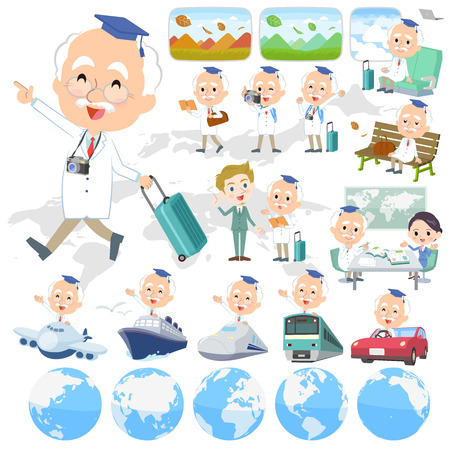 Research Doctor old men travel