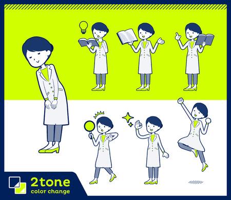 2tone type White coat women_set 05
