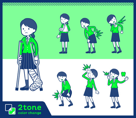 Set of various poses of outline vector illustration