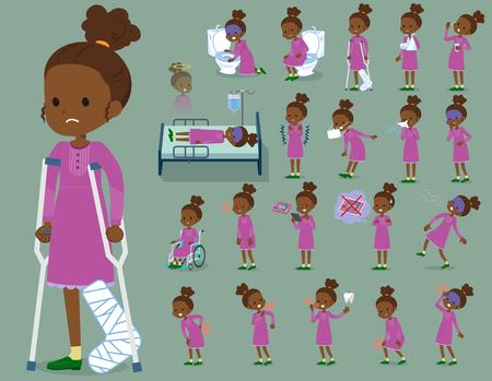 flat type perm hair girl black_sickness