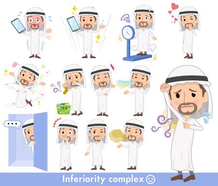 Arab Kandura wearing men complex