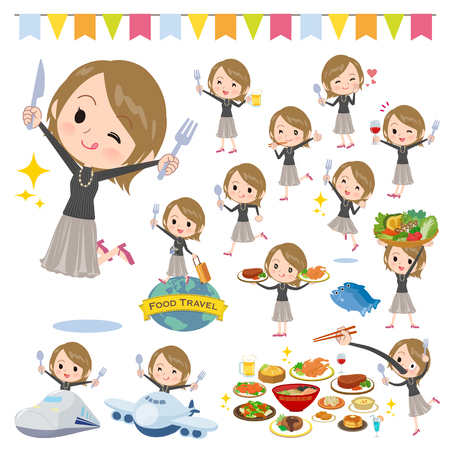 A set of women on food events.