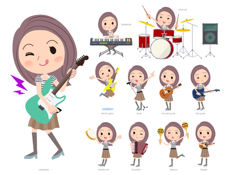 A set of women playing rock 'n' roll and pop music.