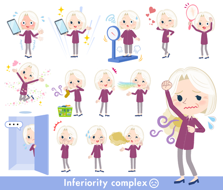 A set of senior women on inferiority complex.