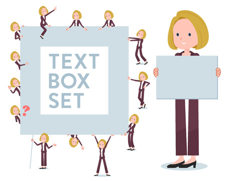 A set of women with a message board.Since each is divided, you can move it freely.Its vector art so its easy to edit. Illustration