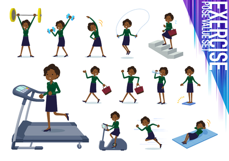 A set of women on exercise and sports.There are various actions to move the body healthy.It's vector art so it's easy to edit. 写真素材 - 109948761