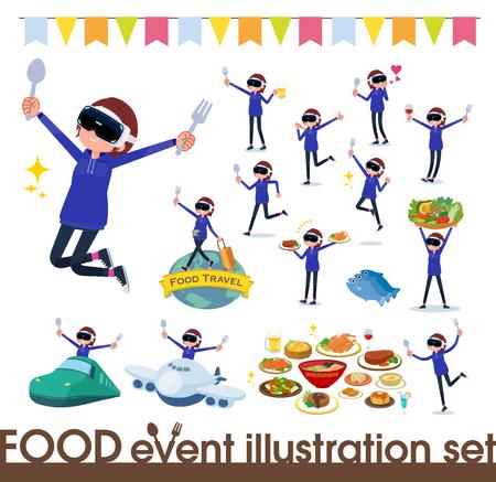 flat type VR goggle women_food festival