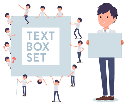 A set of businessman with a message board.Since each is divided, you can move it freely.Its vector art so its easy to edit.