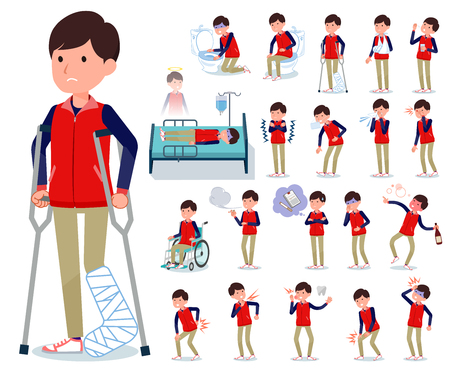 A set of Store stuff man with injury and illness.There are actions that express dependence and death.It's vector art so it's easy to edit.
