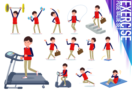 A set of Store stuff man on exercise and sports.There are various actions to move the body healthy.It's vector art so it's easy to edit.