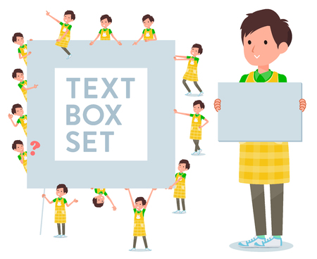 A set of Childminder man with a message board.Since each is divided, you can move it freely.Its vector art so its easy to edit. Illustration