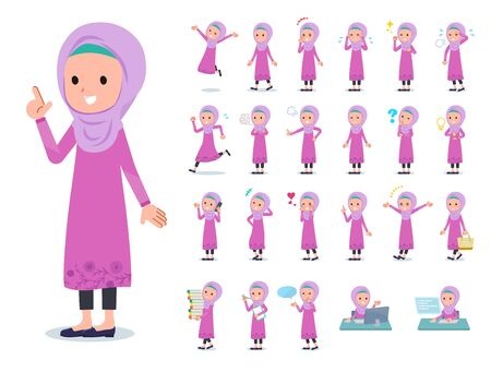 A set of girl with who express various emotions.It's vector art so it's easy to edit.