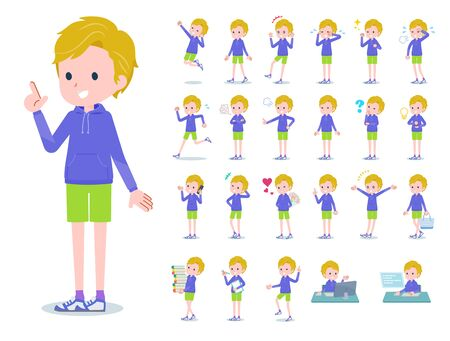 A set of boy with who express various emotions. Its vector art so its easy to edit.  Illusztráció