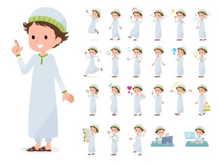 A set of boy with who express various emotions. Its vector art so its easy to edit.