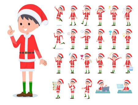 set of Santa Claus costume boy with who express various emotions. Its vector art so its easy to edit.