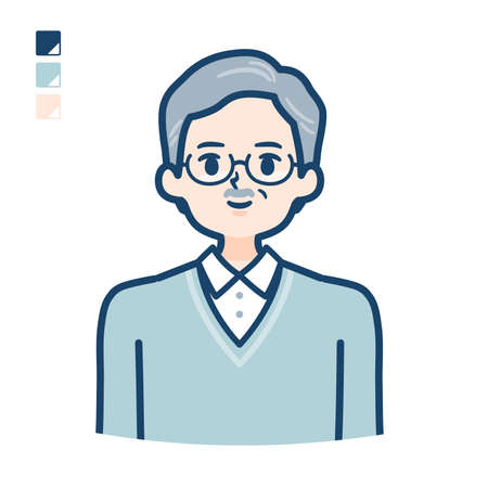 Senior Man with upper body image.