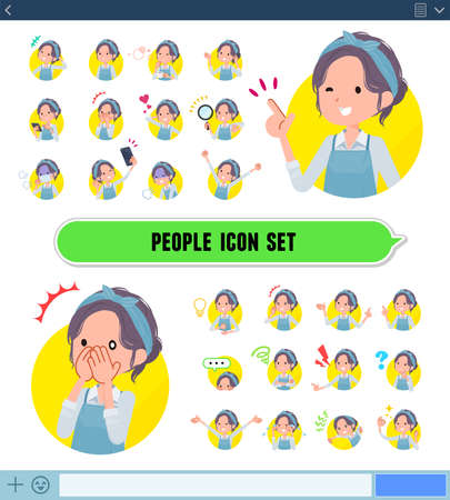 A set of mom with expresses various emotions.There are variations of emotions such as joy and sadness.It's vector art so it's easy to edit.