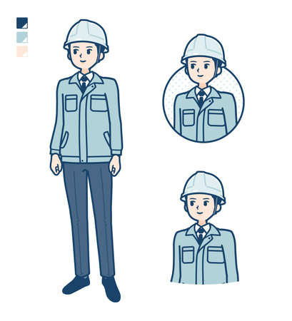 A Man wearing workwear with Punch in front images.