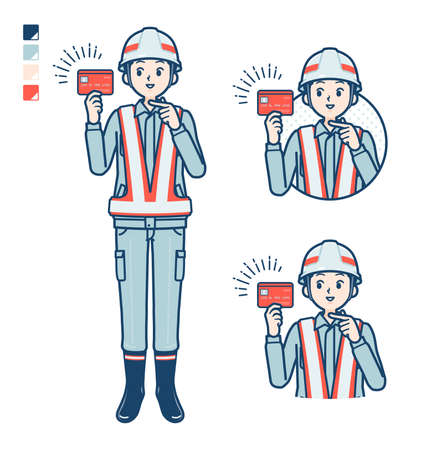 A Man wearing workwear with came up with images.It's vector art so it's easy to edit. Vettoriali
