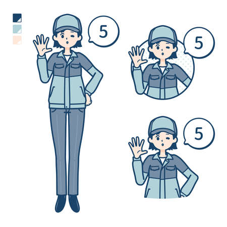 A woman wearing workwear with Manipulating light images.