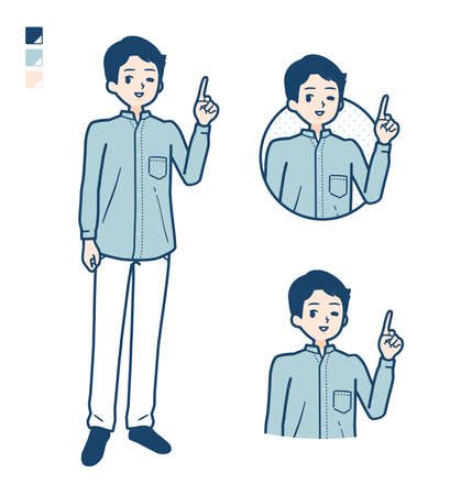 Man in a shirtwith Discouraged images.