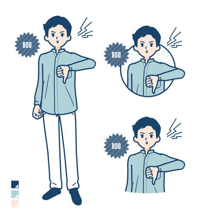 Man in a shirtwith Discouraged images.It's vector art so it's easy to edit.