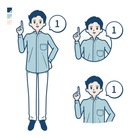 Man in a shirtwith Discouraged images.It's vector art so it's easy to edit. Vektorgrafik