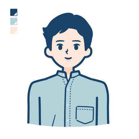 Man in a shirt with Offer a smartphone images. It's vector art so it's easy to edit. Vectores