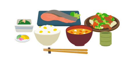 Japanese cuisine Japanese cuisine. Vector illustration that is easy to edit.