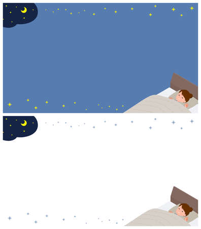 A set of women about sleep.It's vector art so it's easy to edit.