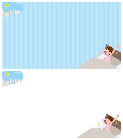 A set of schoolgirl about getting up.It's vector art so easy to edit. Vecteurs