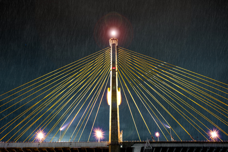 unbar: Thunderstorm over a Suspension Bridge with Light