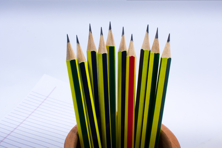 Group of Sharpened Pencil Ready for Use Stock Photo